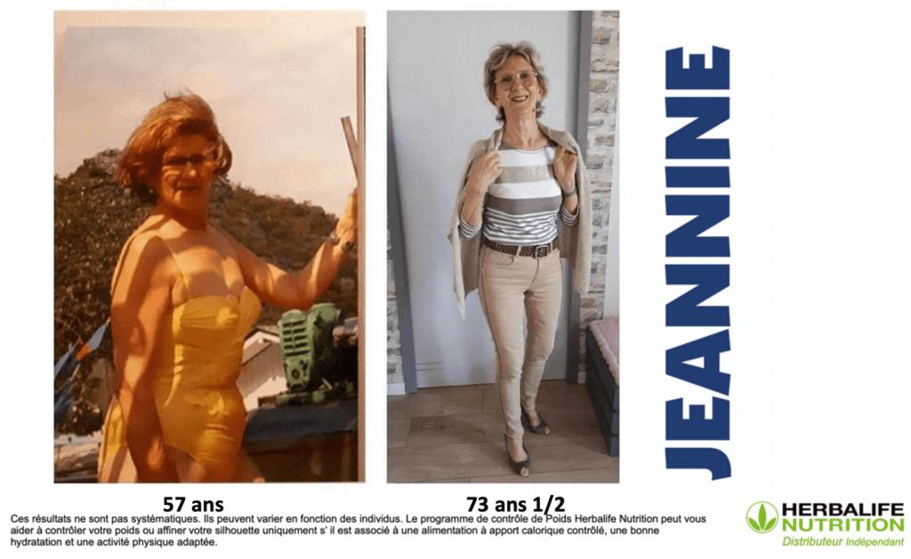 Ancienne commerçante Jeannine à apporter une alimentation saine et équilibrée à son mode de vie